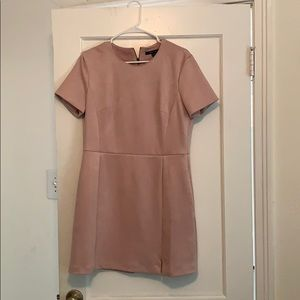 Pink suede French Connection dress